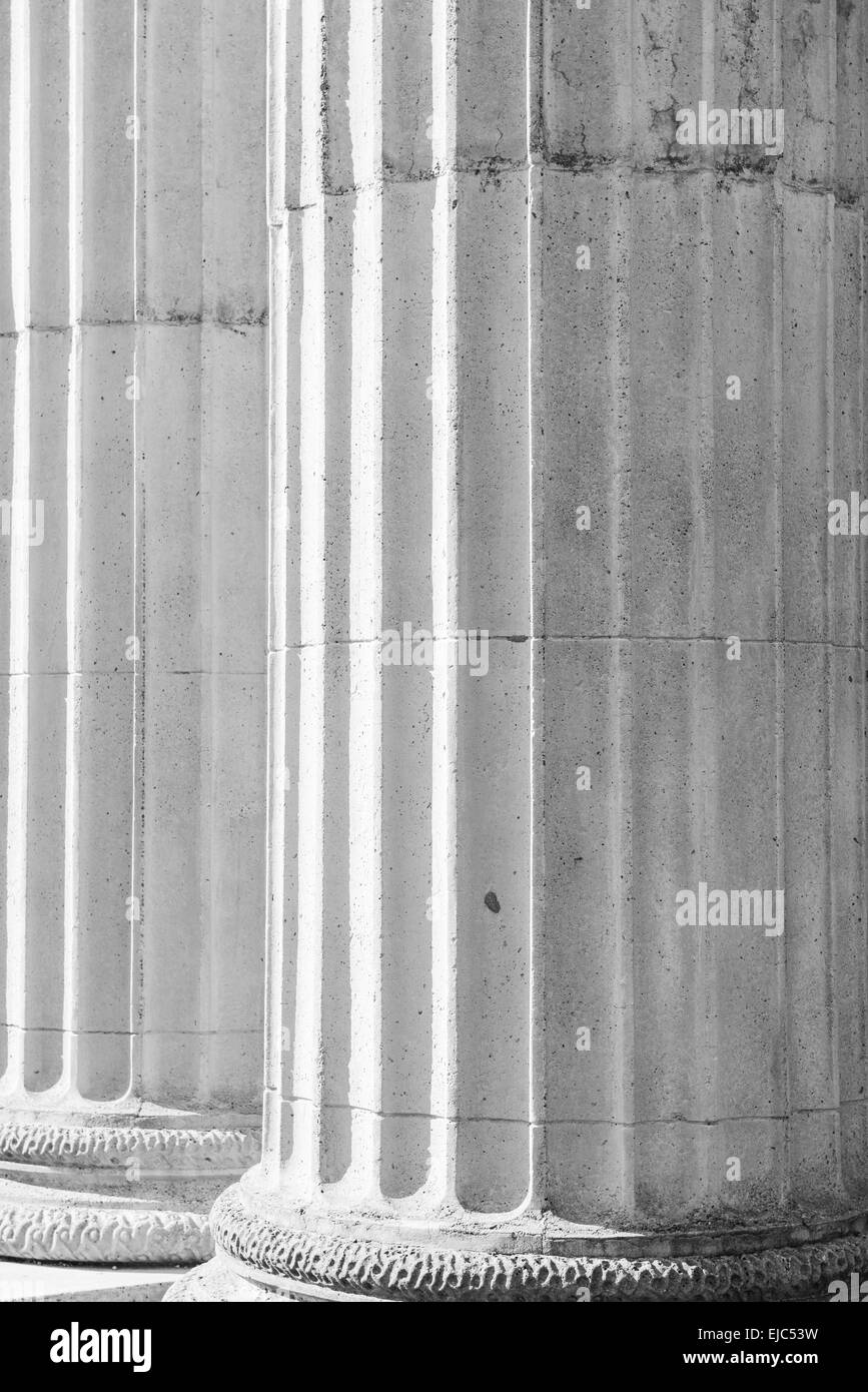 Stone Pillars - Stock Image