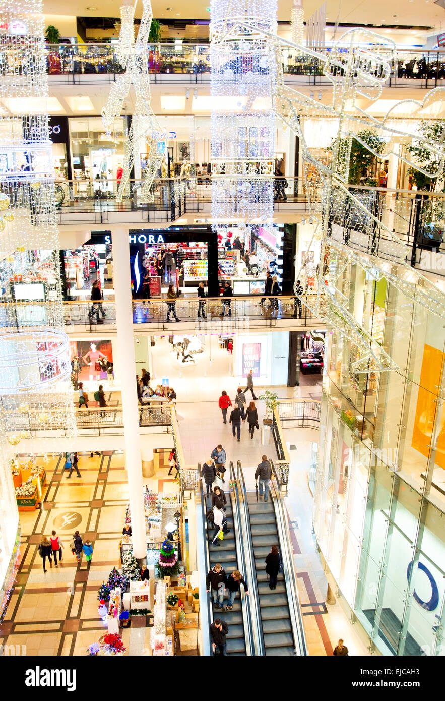 Holliday shopping mall - Stock Image
