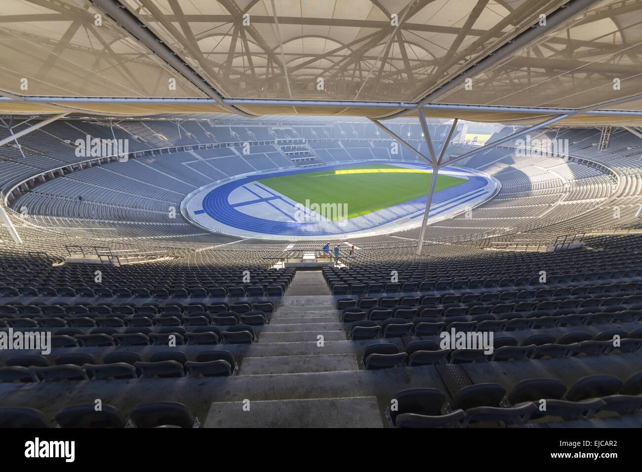 Olympic Stadium inside - Stock Image