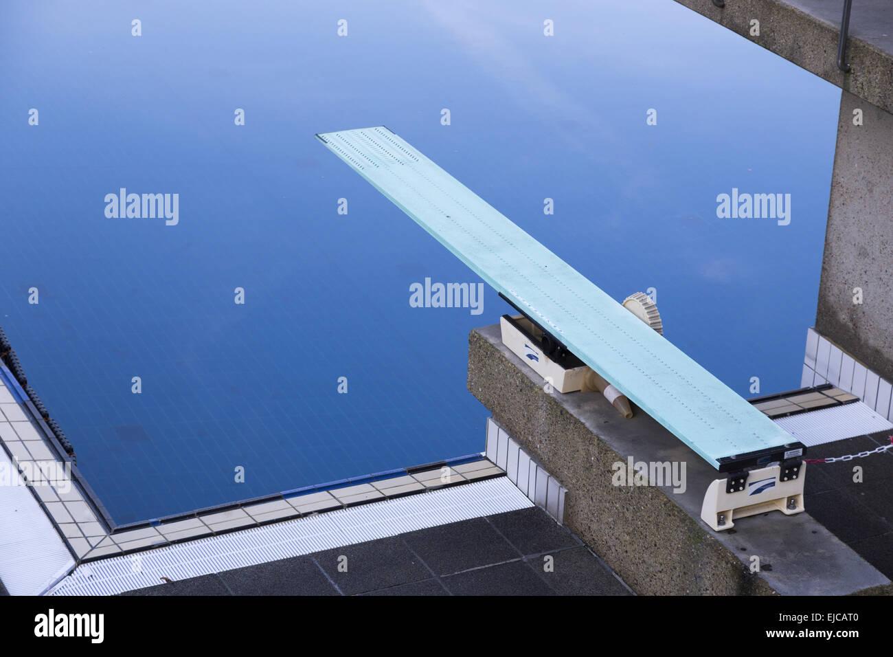 one meter springboard - Stock Image