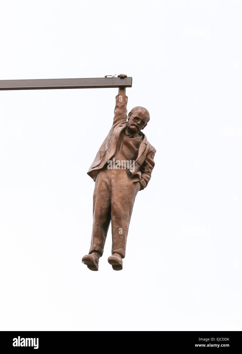Hanging Man in Prague - Stock Image