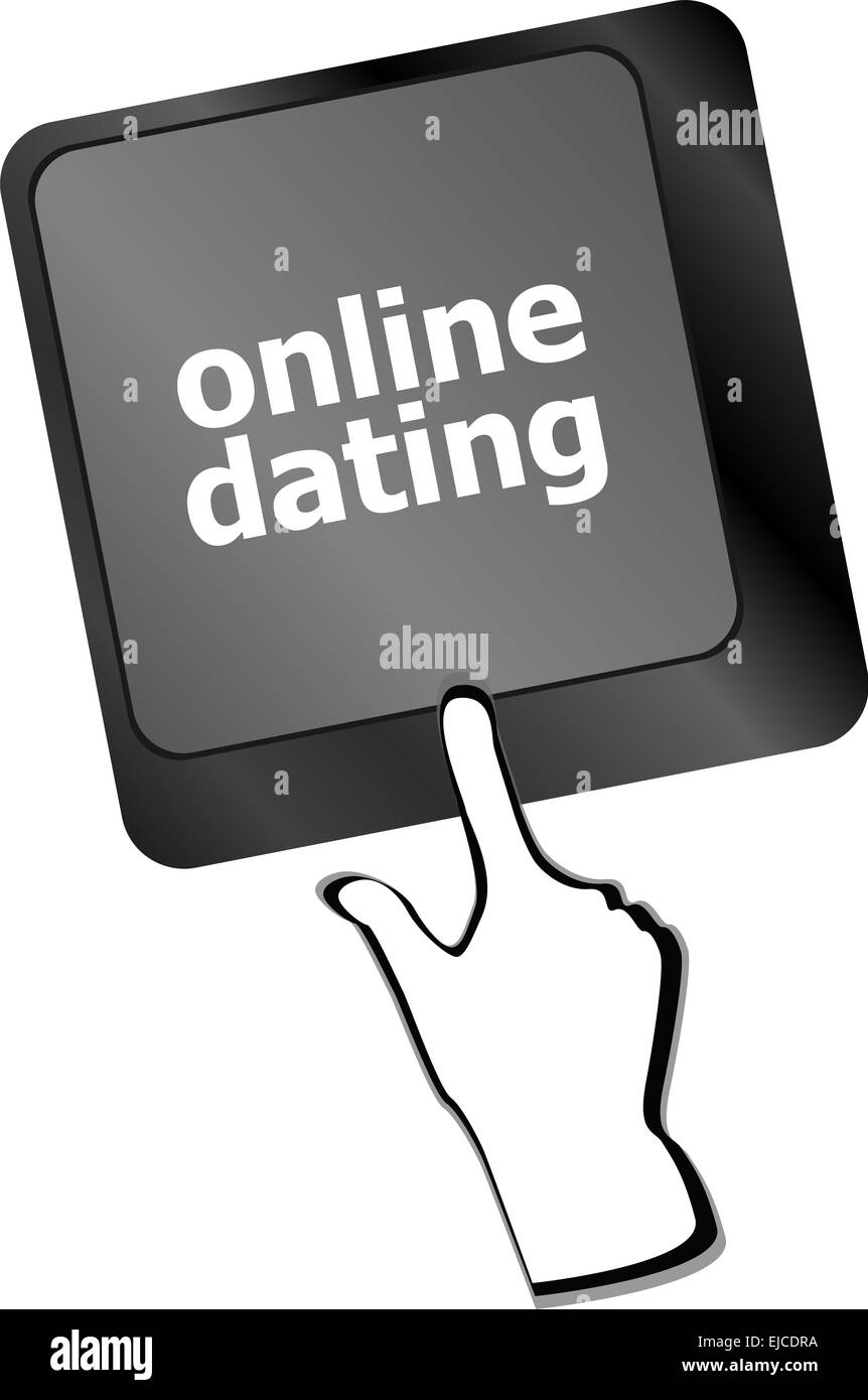 A keyboard with a online dating button - social concept - Stock Image