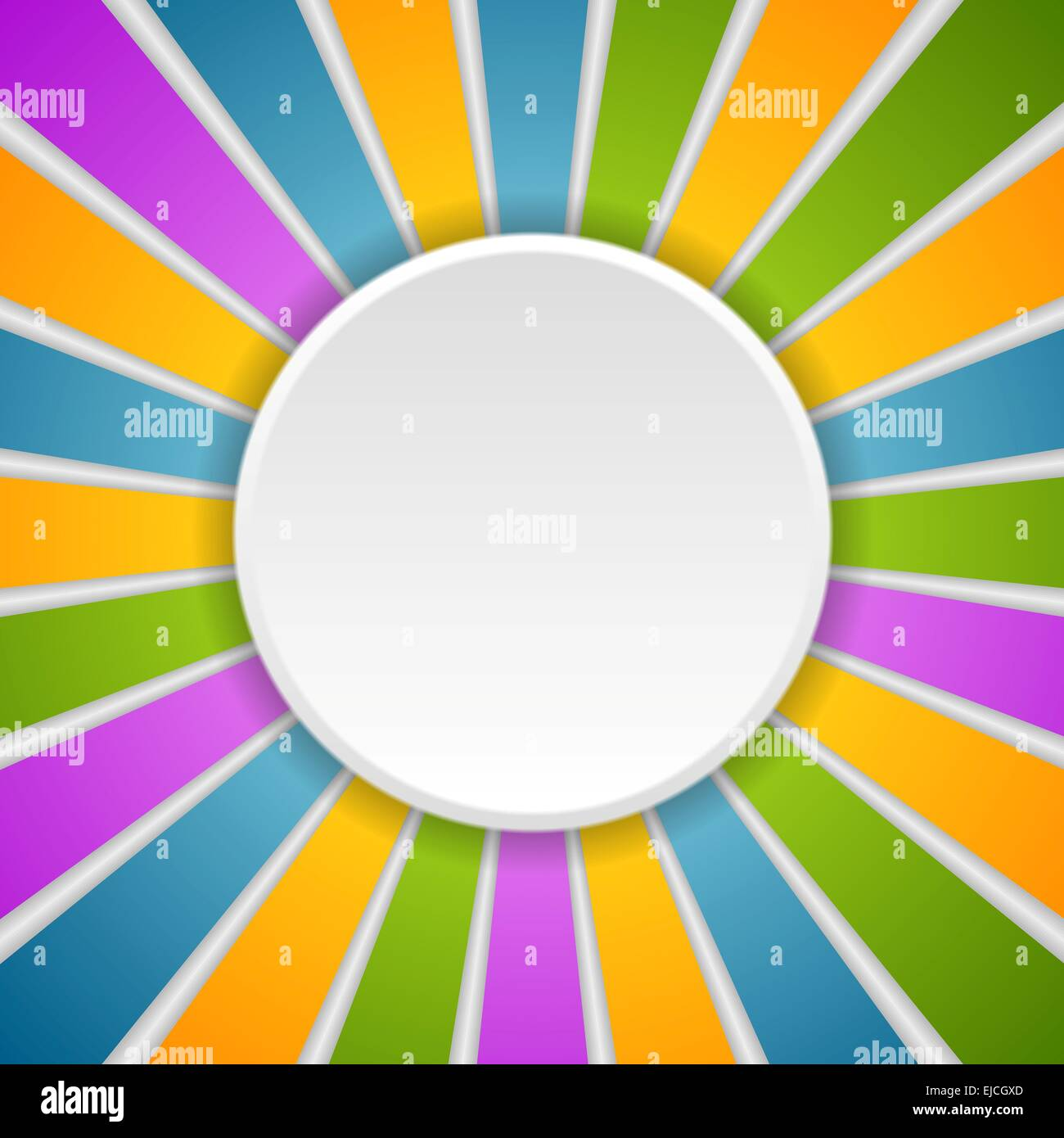 Circle and rays. Rainbow colors Stock Photo
