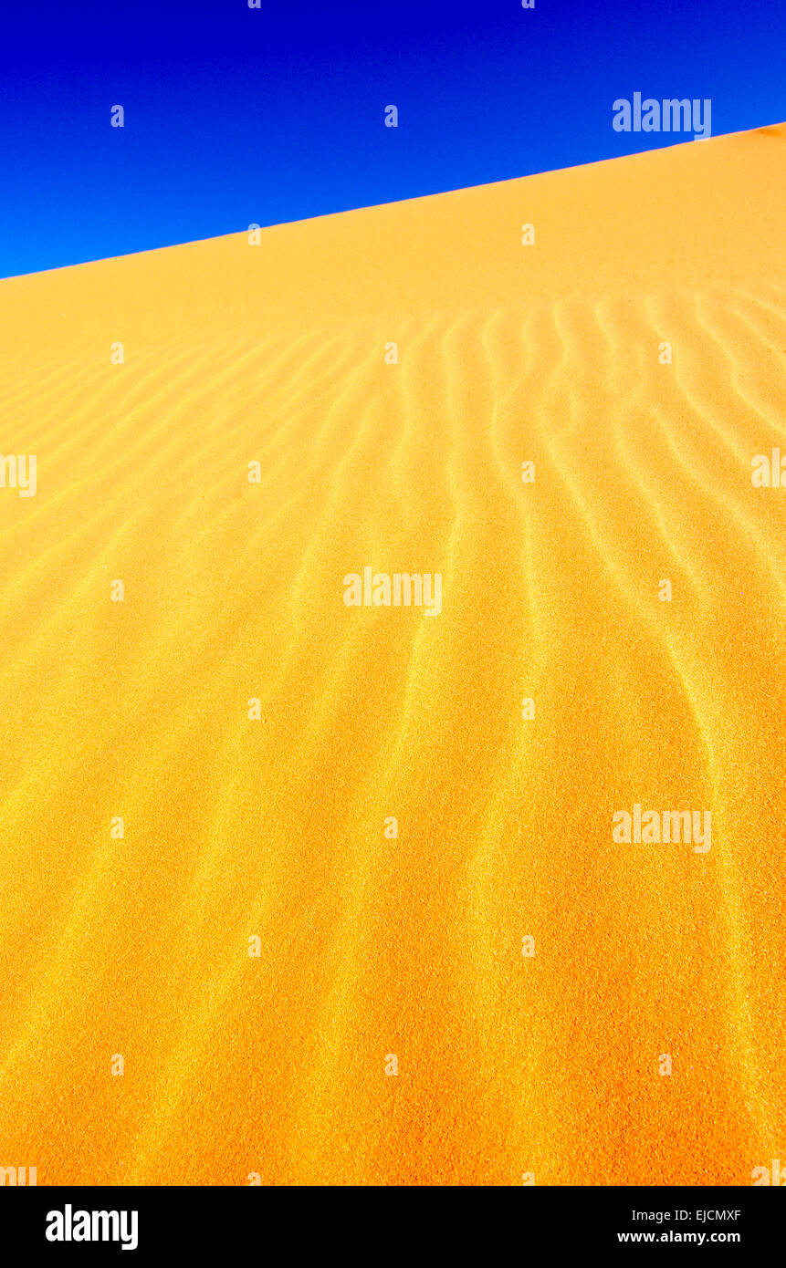 Iron stained sands at Coral Pink Sand Dunes State Park, Utah - Stock Image