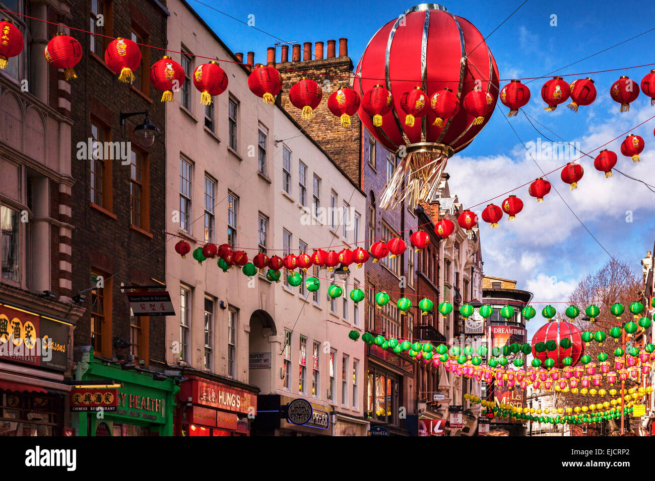 Chinatown, London, England. - Stock Image
