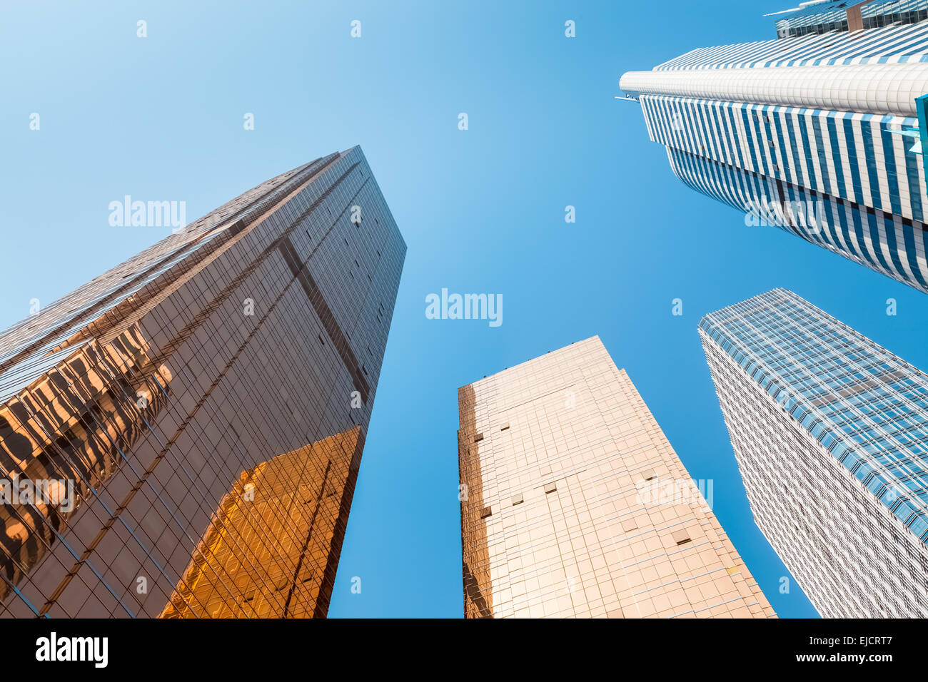 modern buildings ,viewed from below - Stock Image