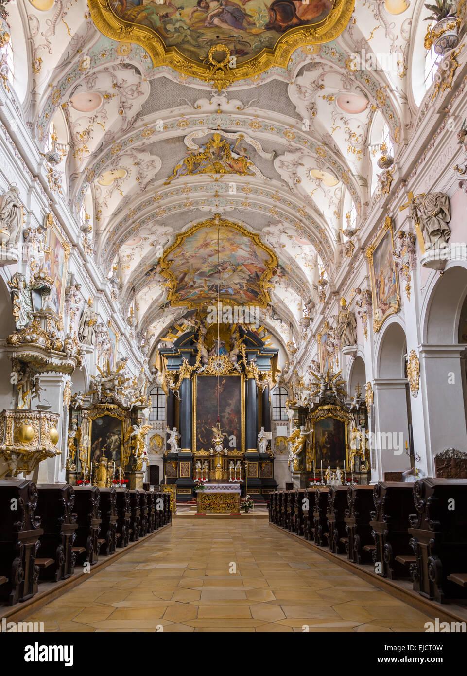 st emmeram church regensburg germany stock photo 80187545 alamy. Black Bedroom Furniture Sets. Home Design Ideas