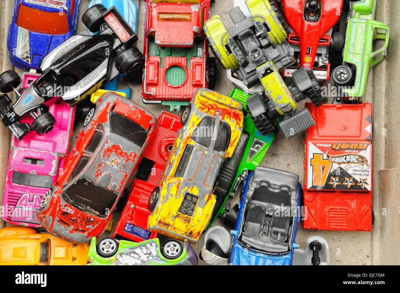 Toys in the box - Stock Image
