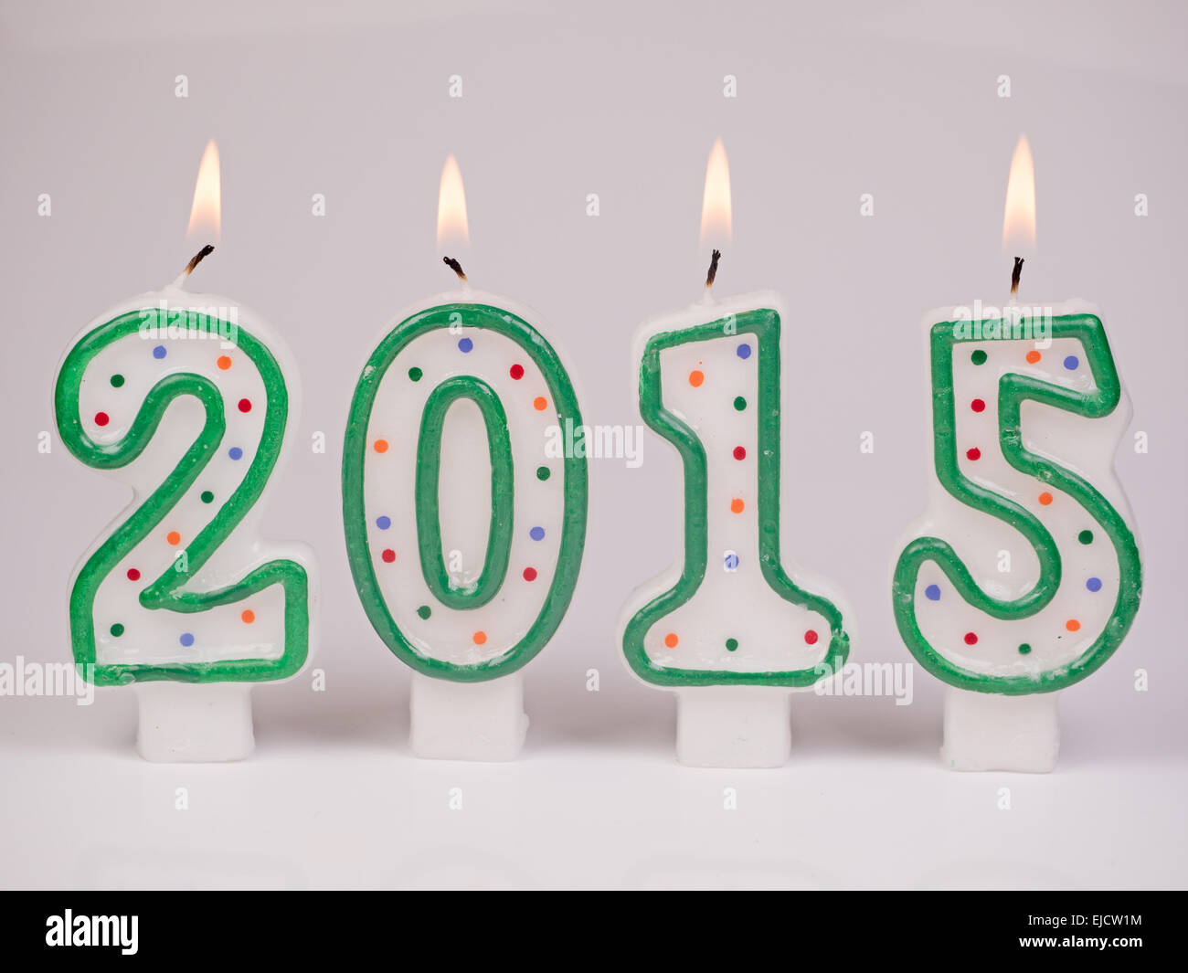 Digits candles 2015 - Stock Image
