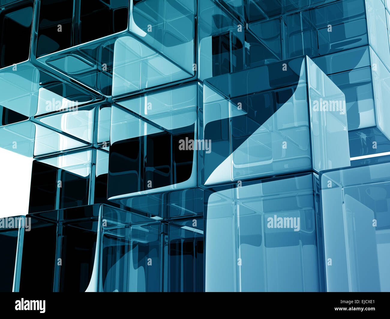 Glass Cubes On White Background