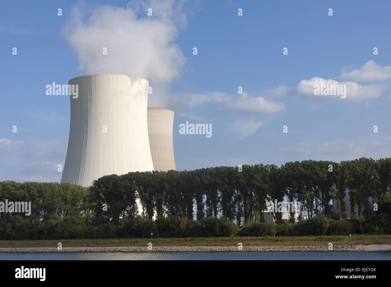 Nuclear power plant Phillipsburg Stock Photo
