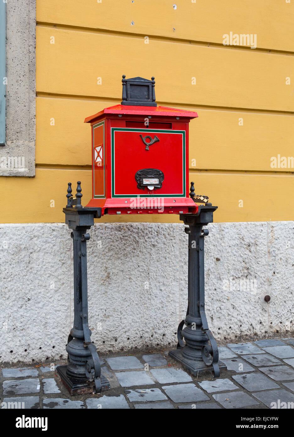 Posta mailbox in Castle Hill Budapest Stock Photo