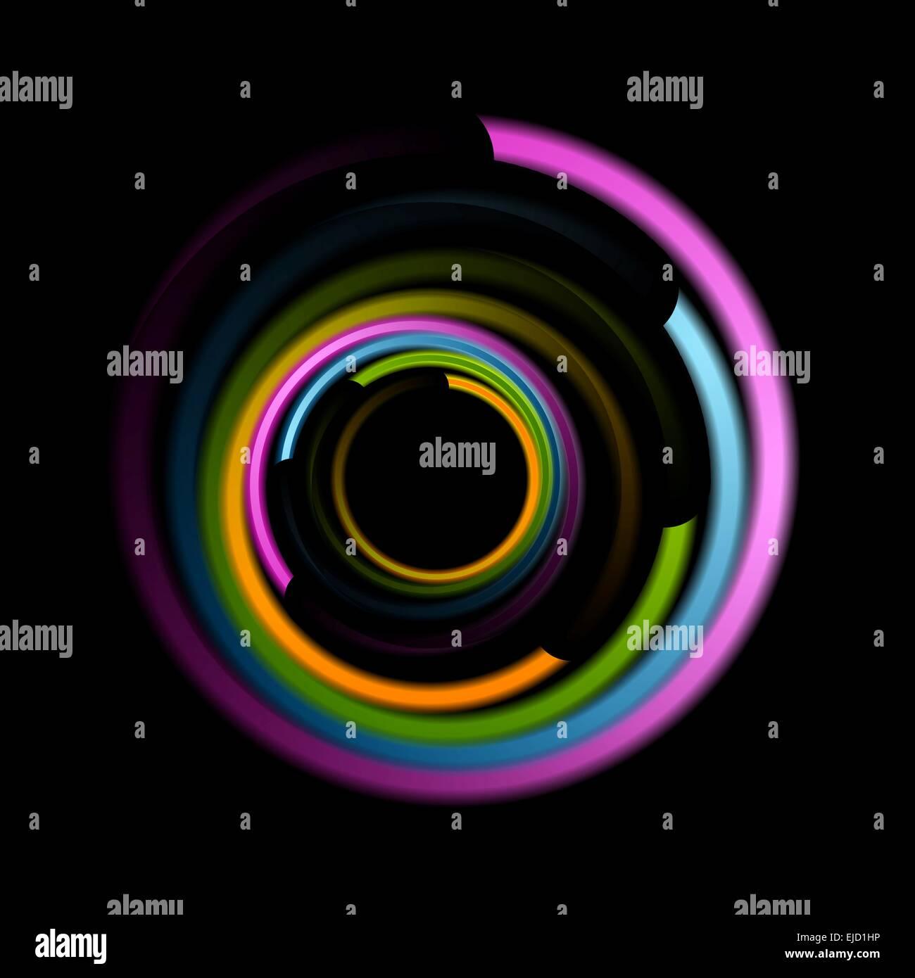 Abstract colorful swirl circle logo - Stock Image