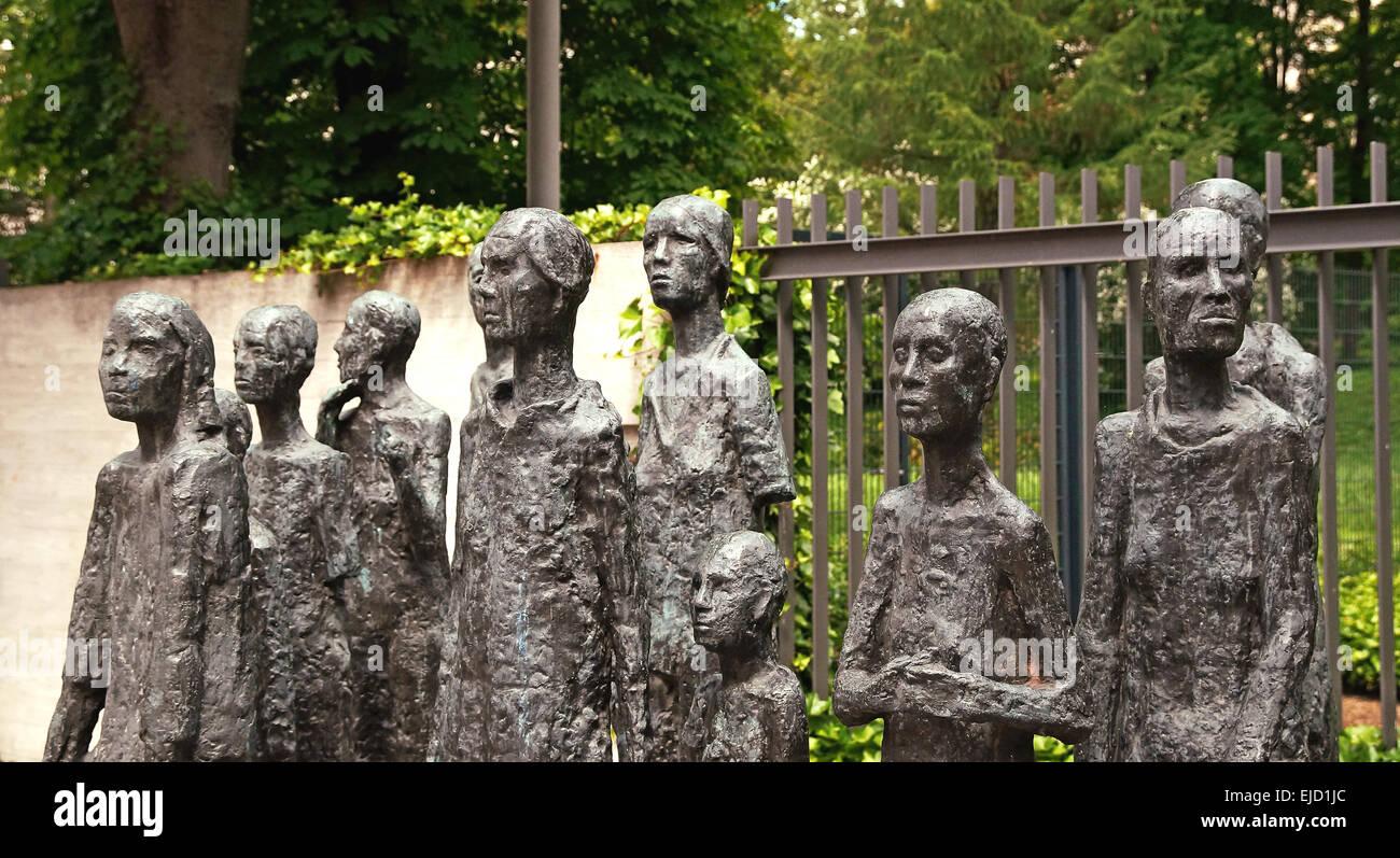 Jewish Graveyard Berlin Germany Stock Photo