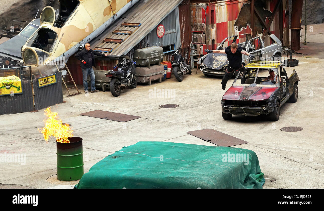 Stuntshow Moviepark Babelsberg - Stock Image