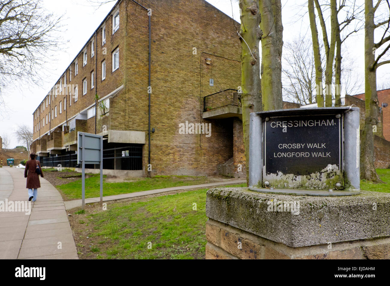 Cressingham Gardens housing estate in Tulse Hill on fringe of Stock ...