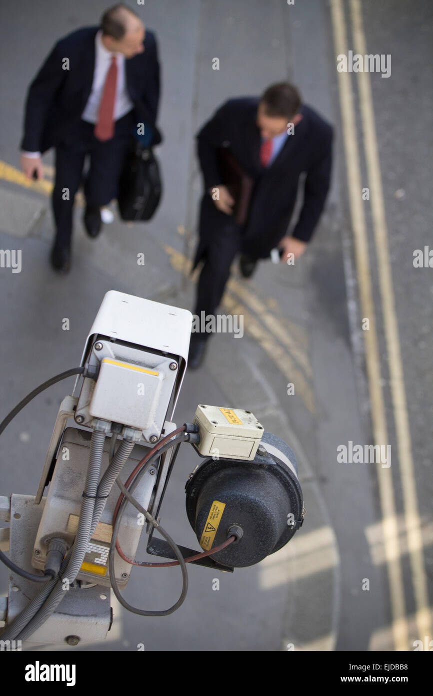Closed-circuit television CCTV, video surveillance in Central London - Stock Image