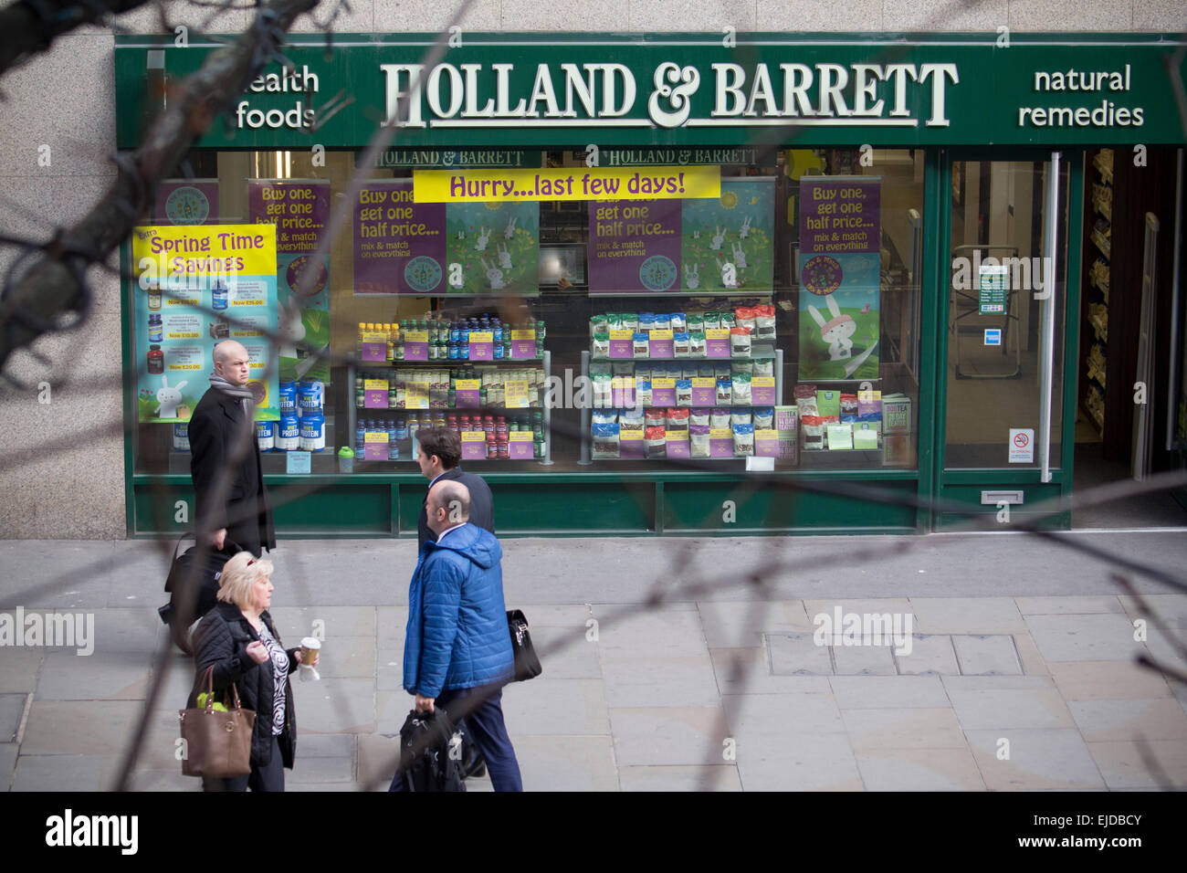 Holland and Barrett health foods and natural remedies outlet, London - Stock Image