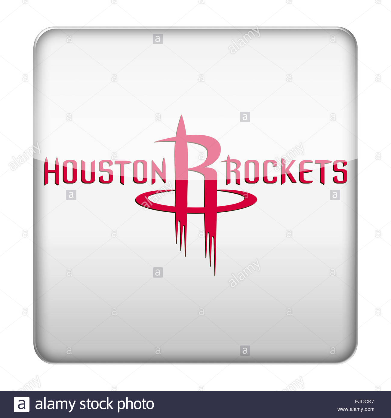 Houston Rockets logo icon - Stock Image