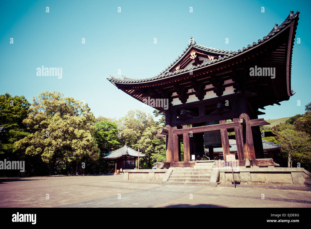 todaiji buddhist temple in the ancient japanese capital nara stock