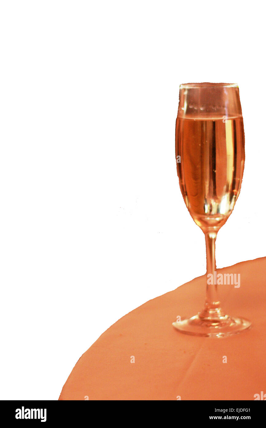 champagne flute - Stock Image
