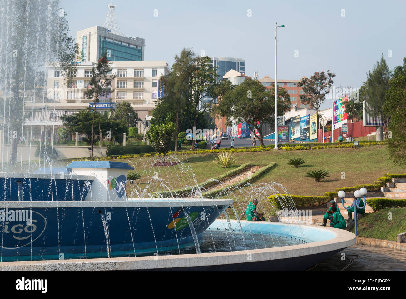 Kigali city center. Place de l' Unite Nationale. Rwanda - Stock Image