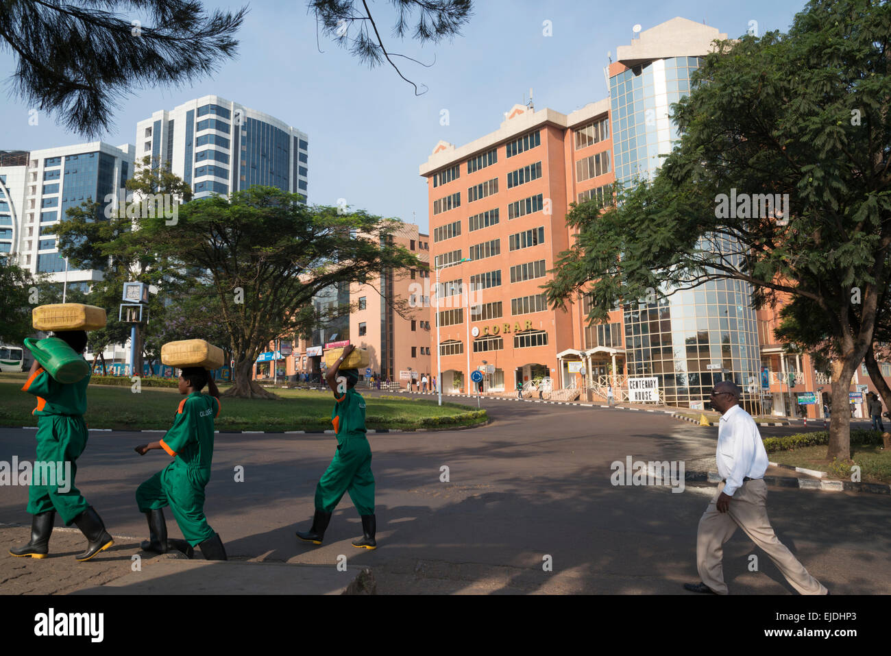 Kigali city center. Place de l' ind'ependence. Rwanda - Stock Image