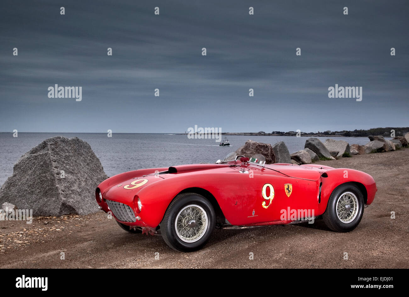 1953 Ferrari 375 MM Pinin Farina Spider sports racing car - Stock Image