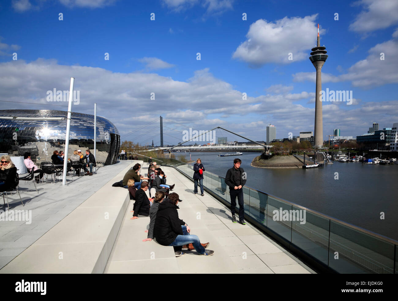 Medienhafen (Media distrikt), Northrhine Westphalia, Germany, Europe - Stock Image