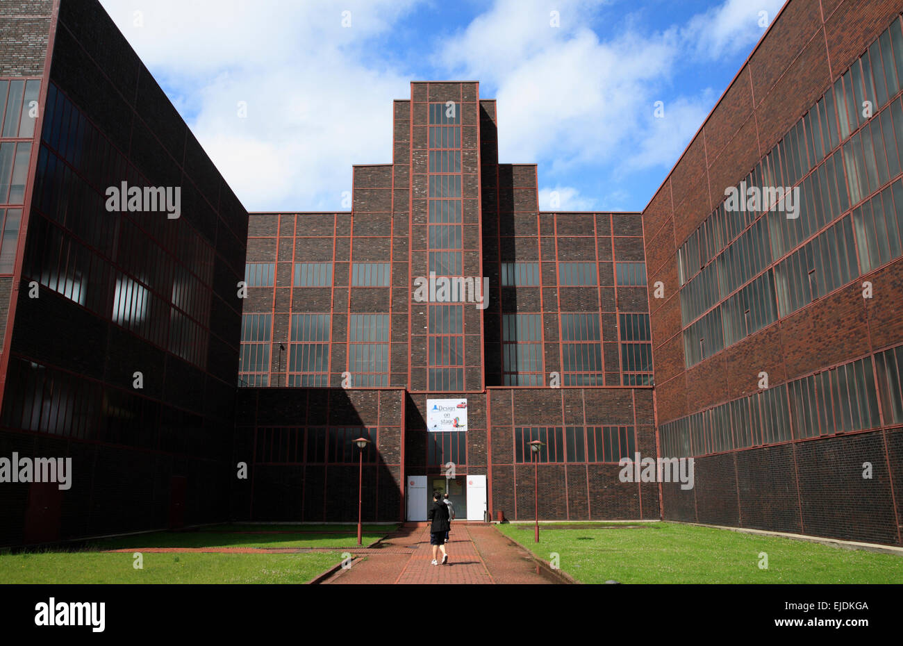 Zeche Zollverein, red dot design museum,  Essen, Nordrhine Westphalia, Germany, Europe - Stock Image