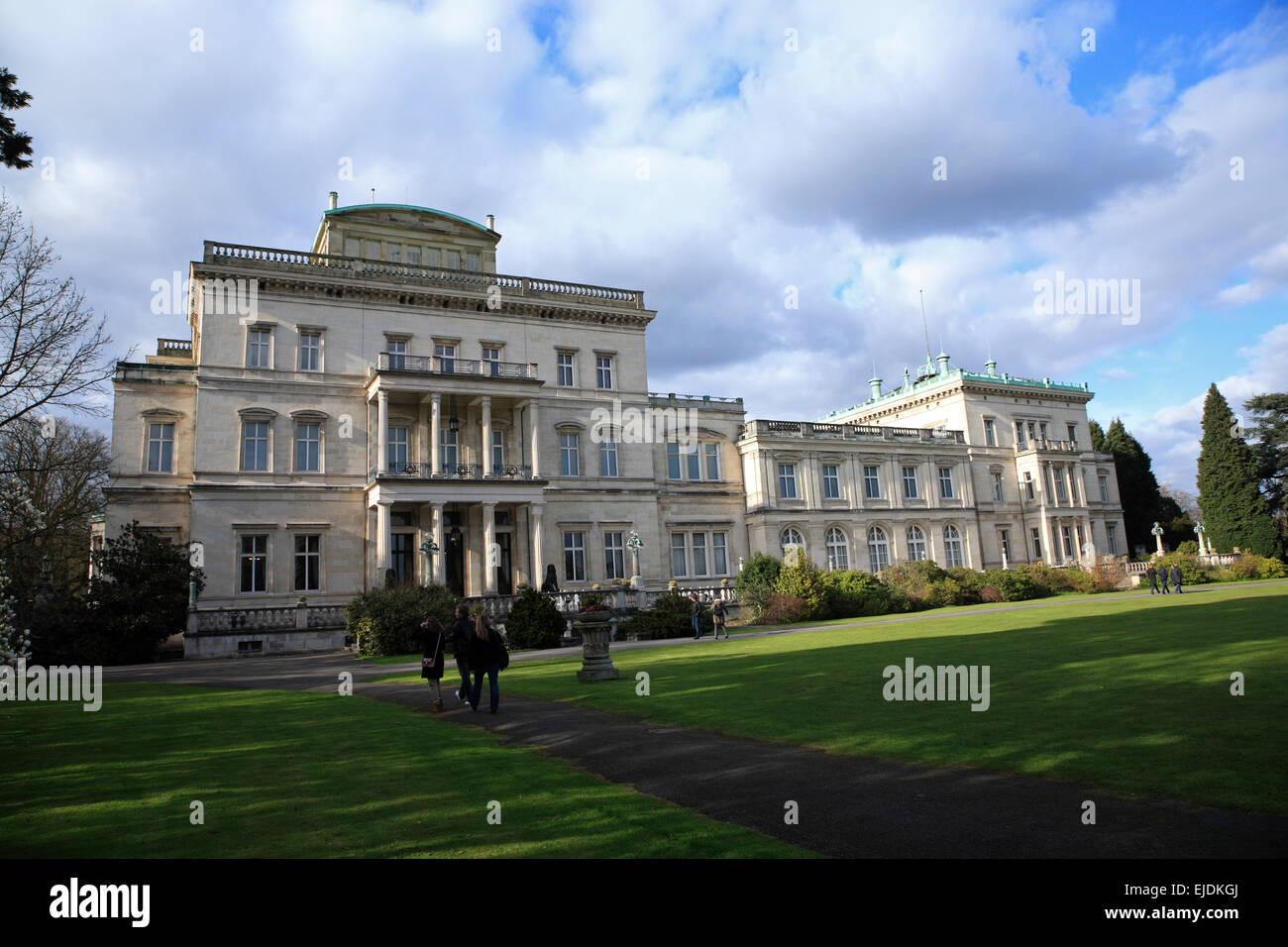 Villa Huegel Essen, Nordrhine Westphalia, Germany, Europe - Stock Image