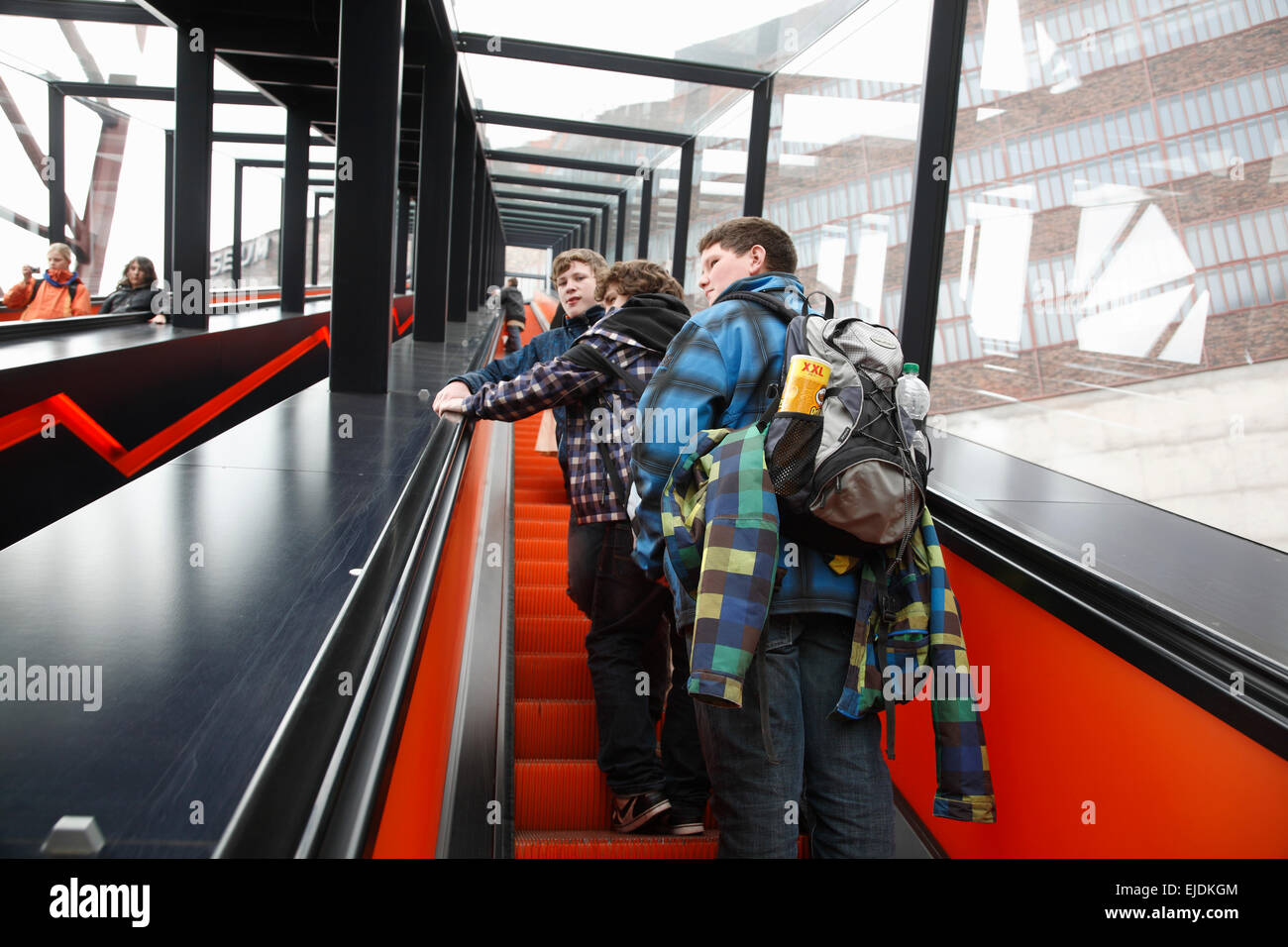 Zeche Zollverein, Entrance,  Essen, Nordrhine Westphalia, Germany, Europe - Stock Image