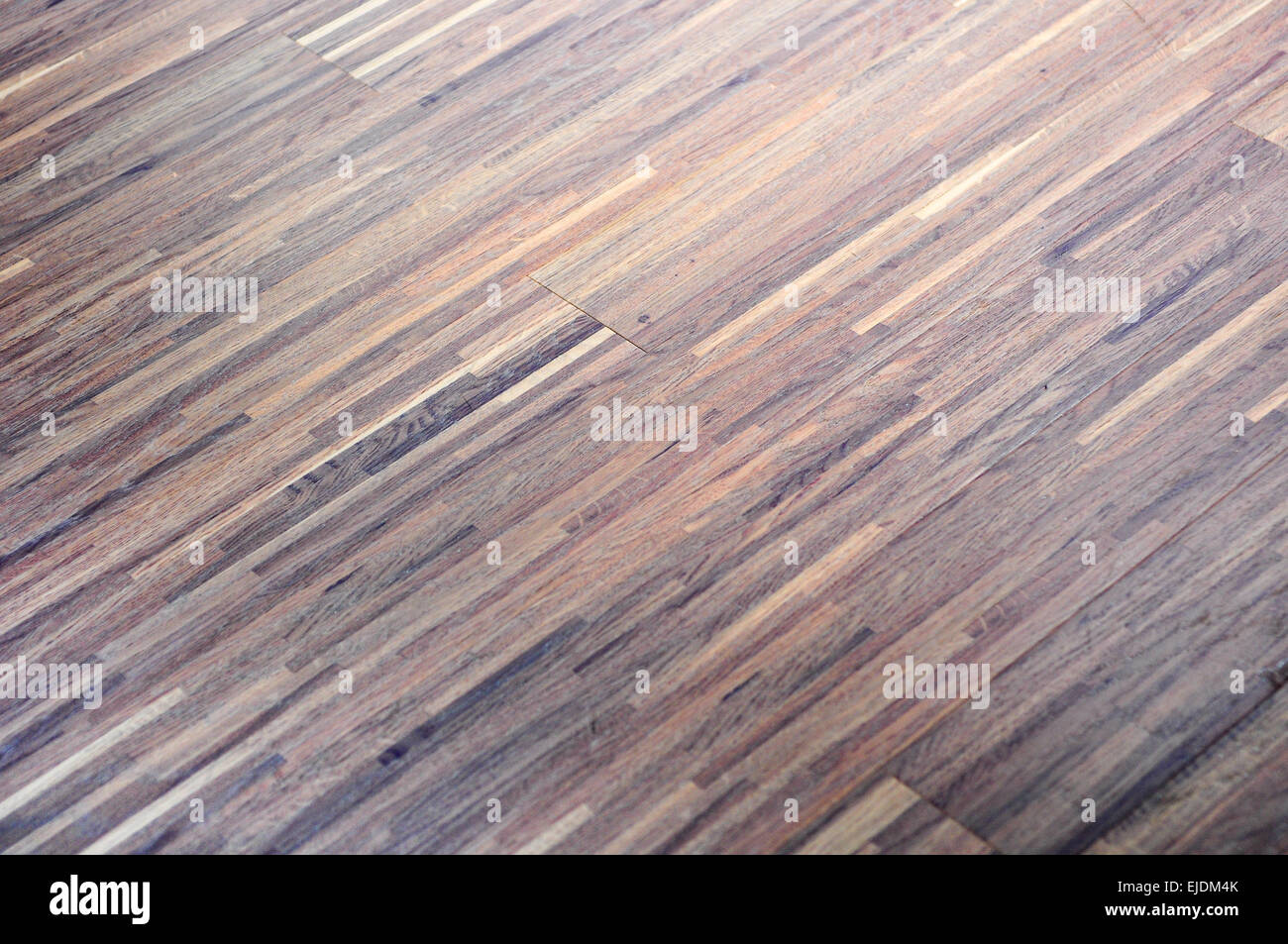 the texture of modern brown wooden floor - Stock Image
