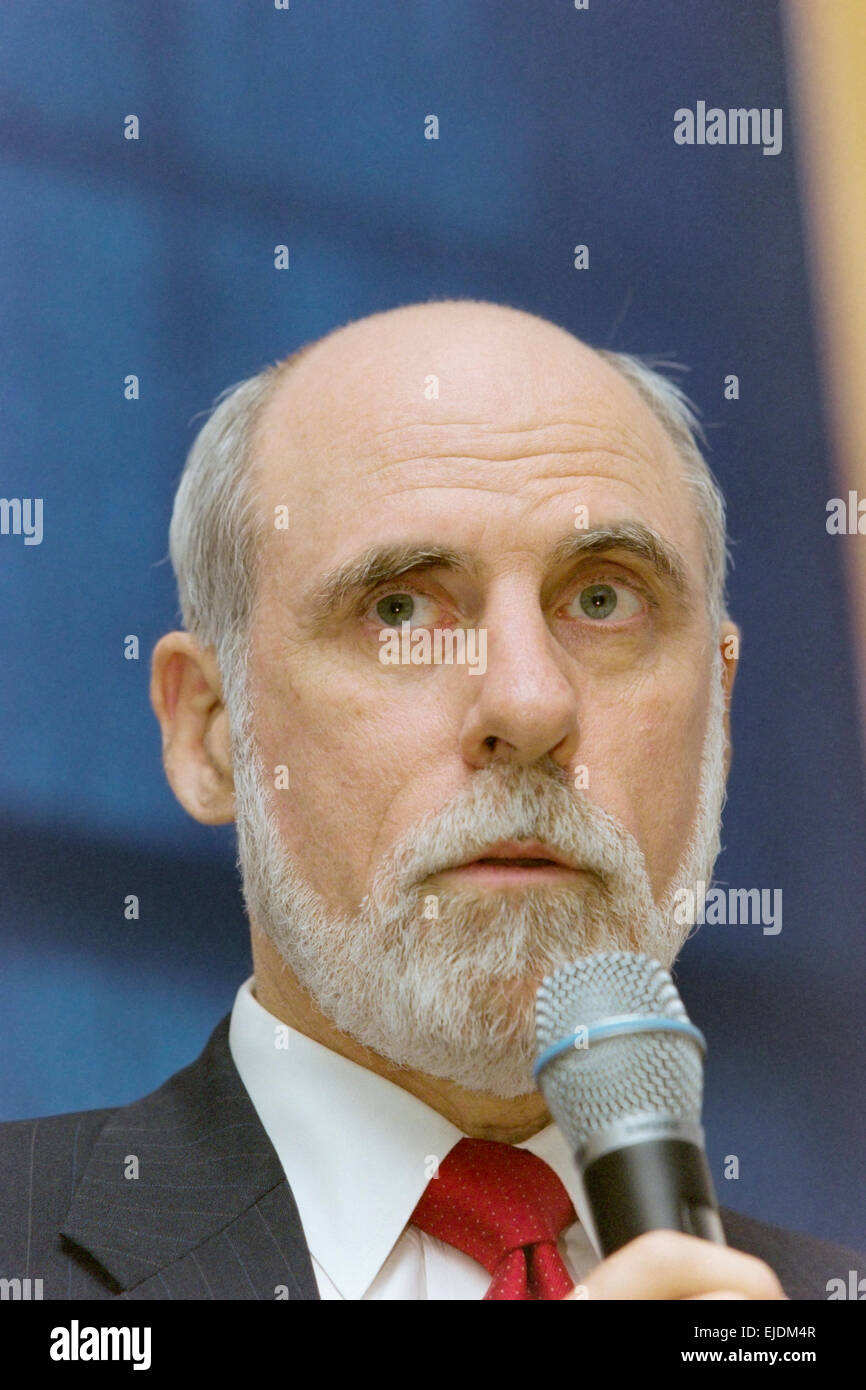 Dr. Vint Cerf is vice president and Chief Internet Evangelist for Google and one of the fathers of the internet. - Stock Image