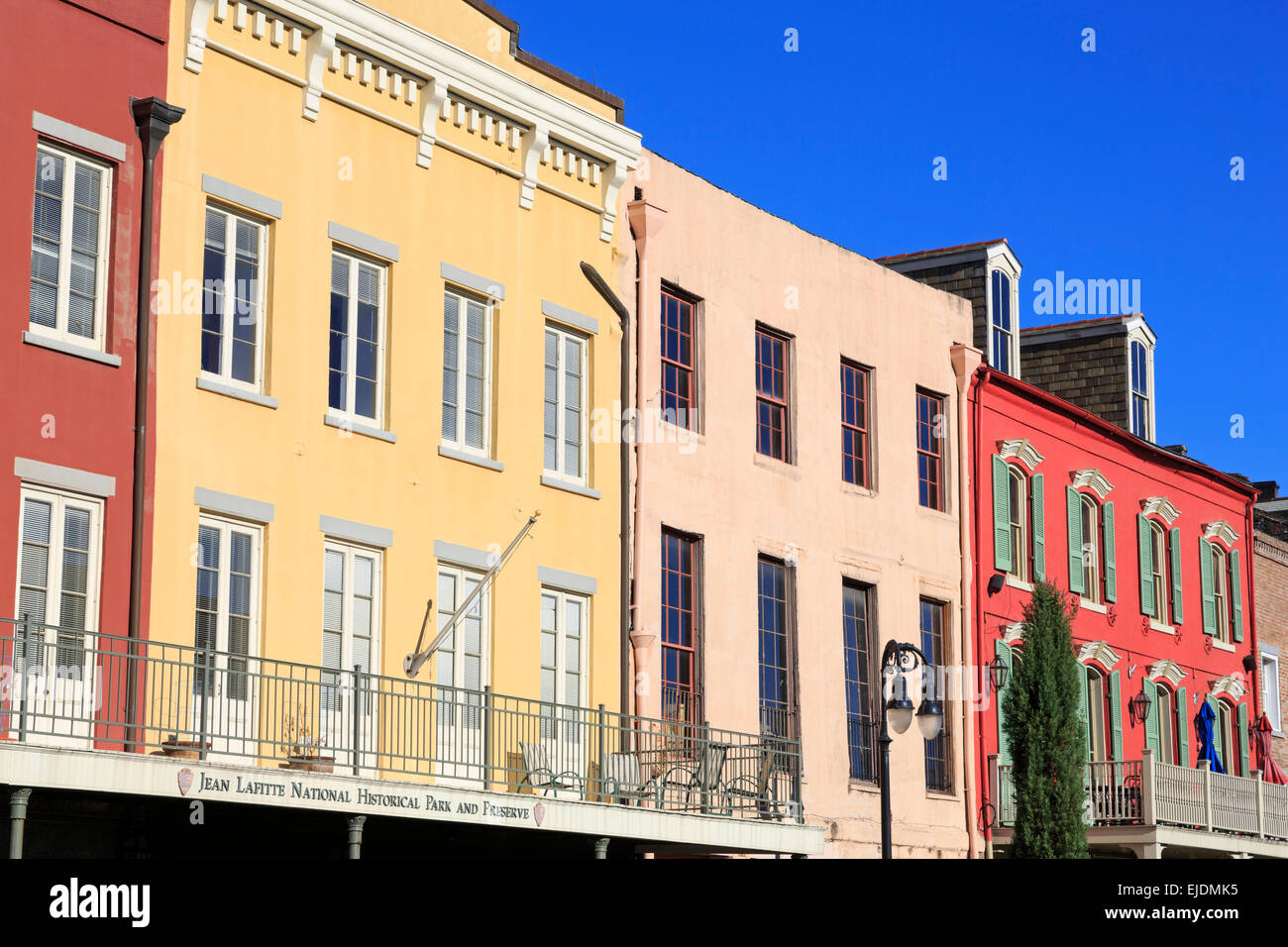 Decatur Street, French Quarter, New Orleans, Louisiana, USA - Stock Image