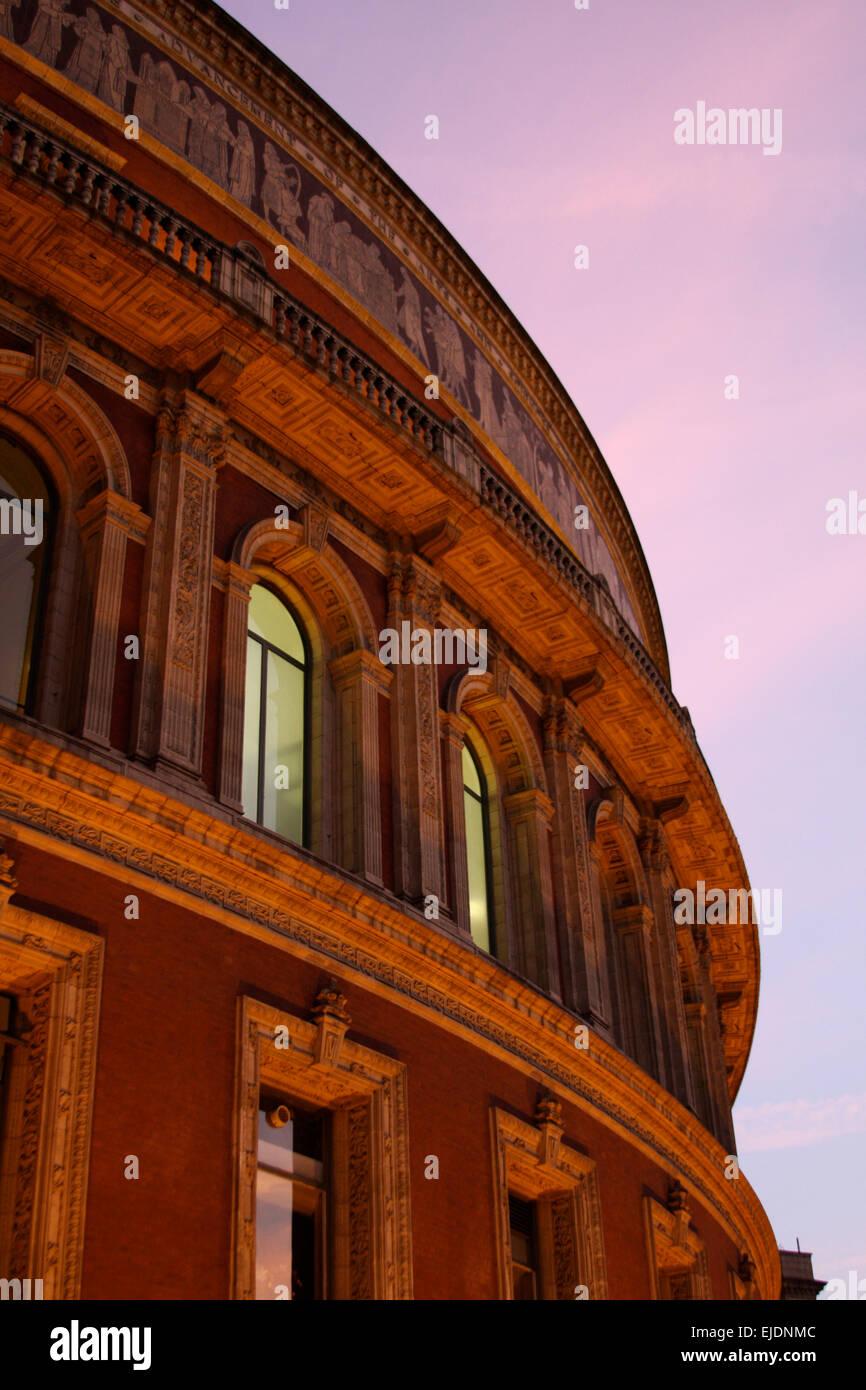 Royal Albert Hall at Night Stock Photo