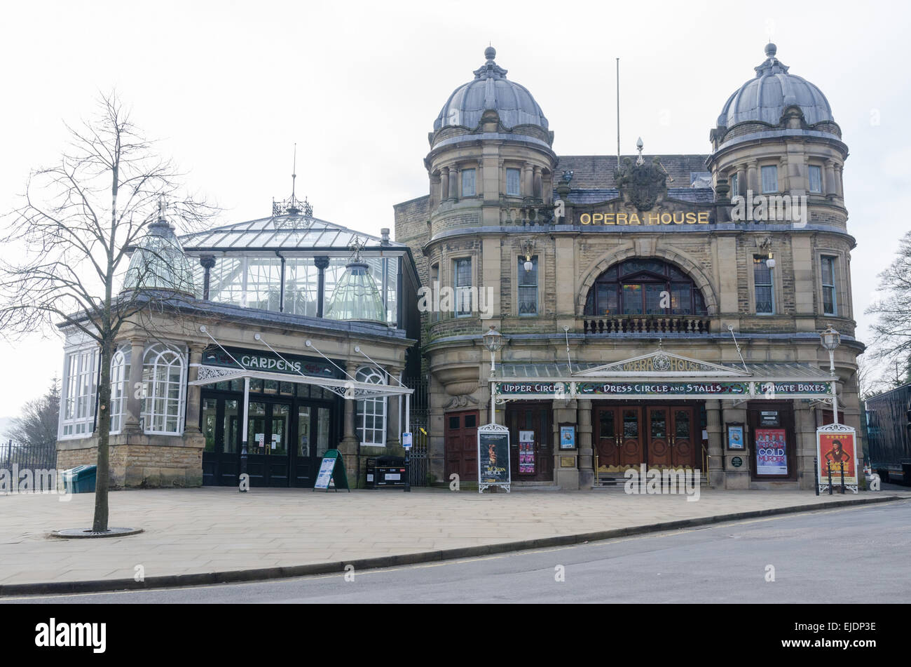 Frank Matcham's Opera House in the Derbyshire spa town of Buxton - Stock Image