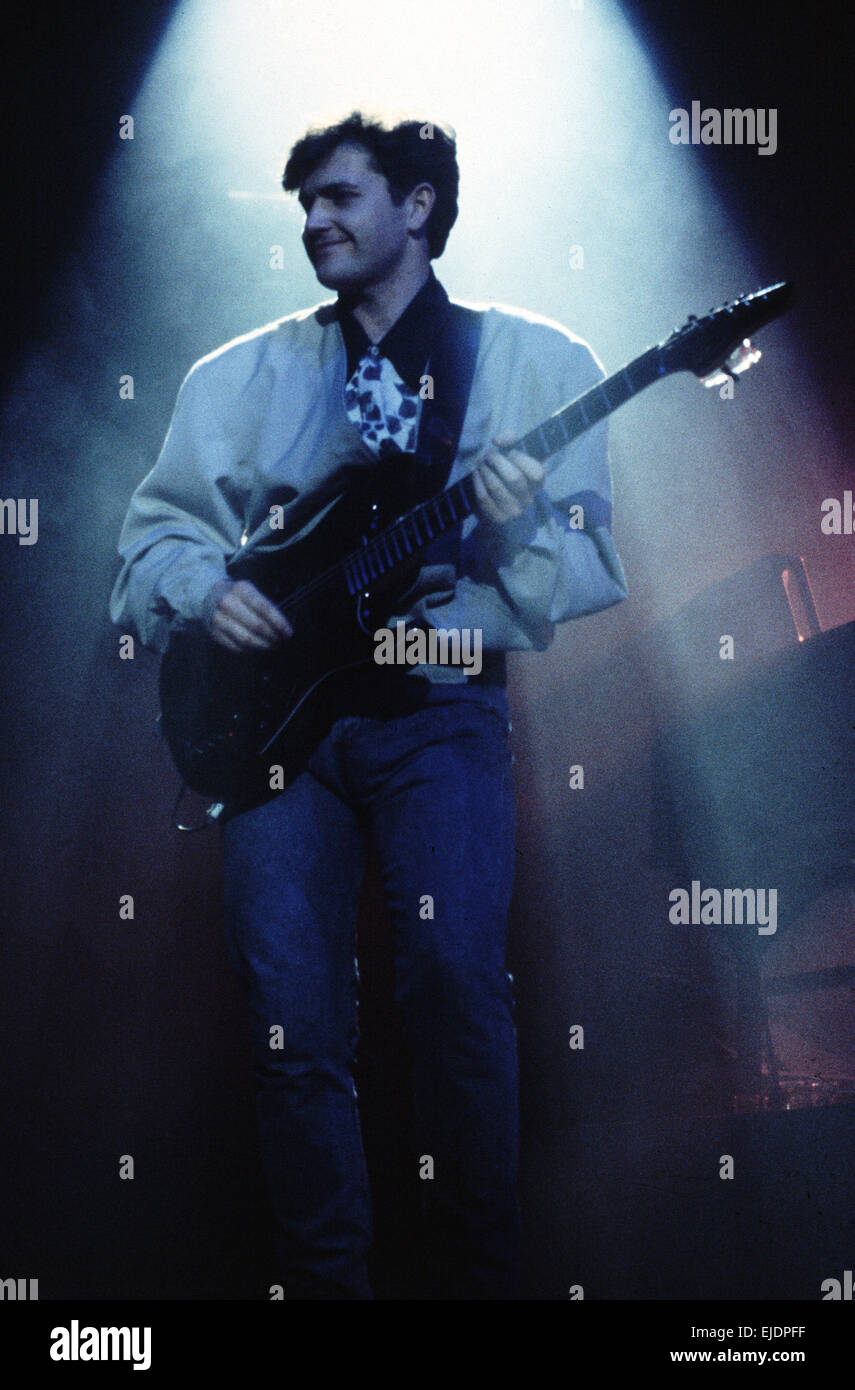 Charlie Burchill guitarist with Simple Minds on stage in Rome - Stock Image