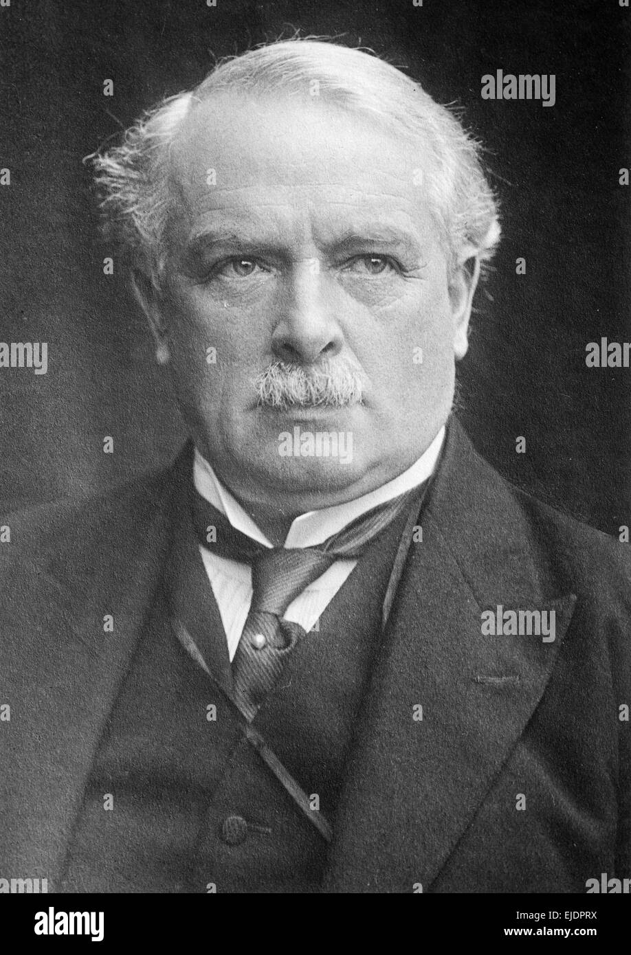 David Lloyd George, Prime Minister of the United Kingdom from 1916-1922 - Stock Image