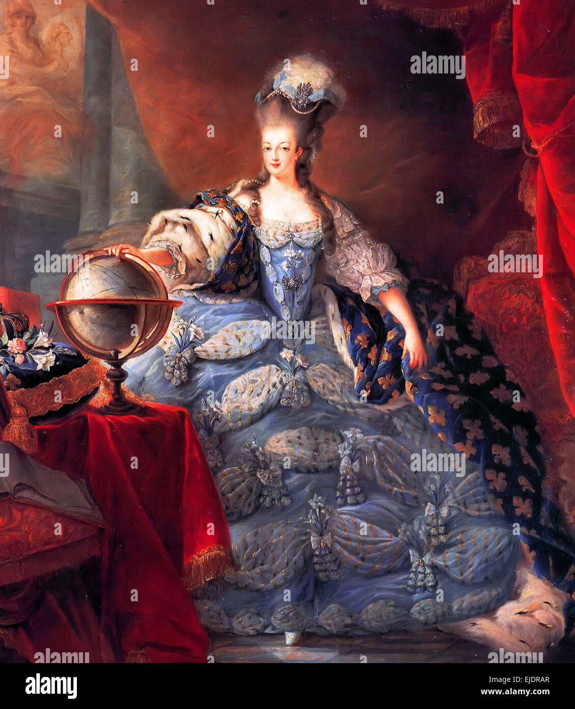 Marie Antoinette, Queen of France, in coronation robes - Stock Image