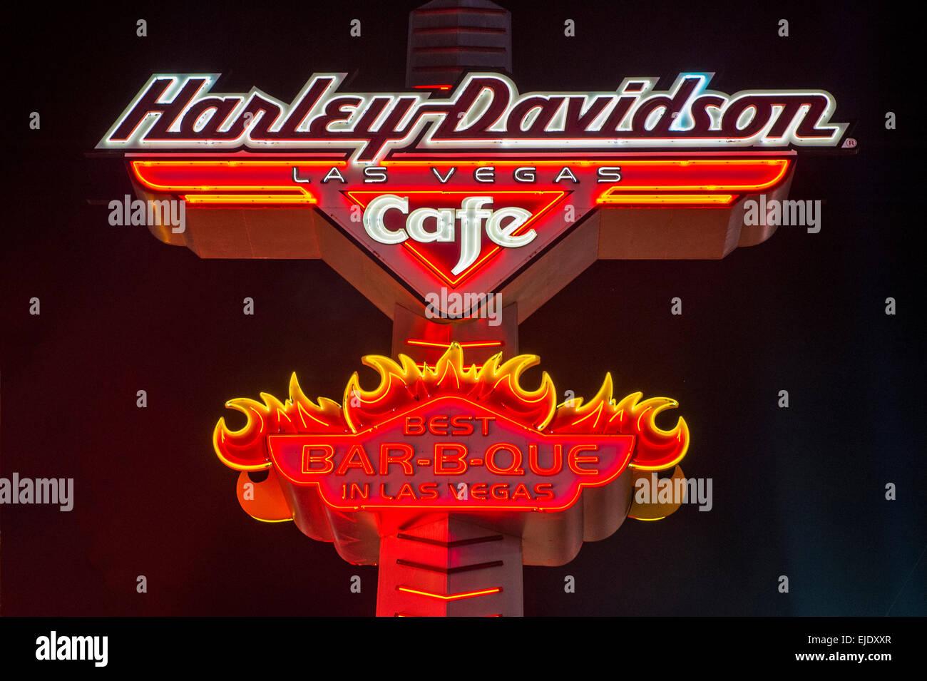 The Harley Davidson Cafe in Las Vegas strip - Stock Image