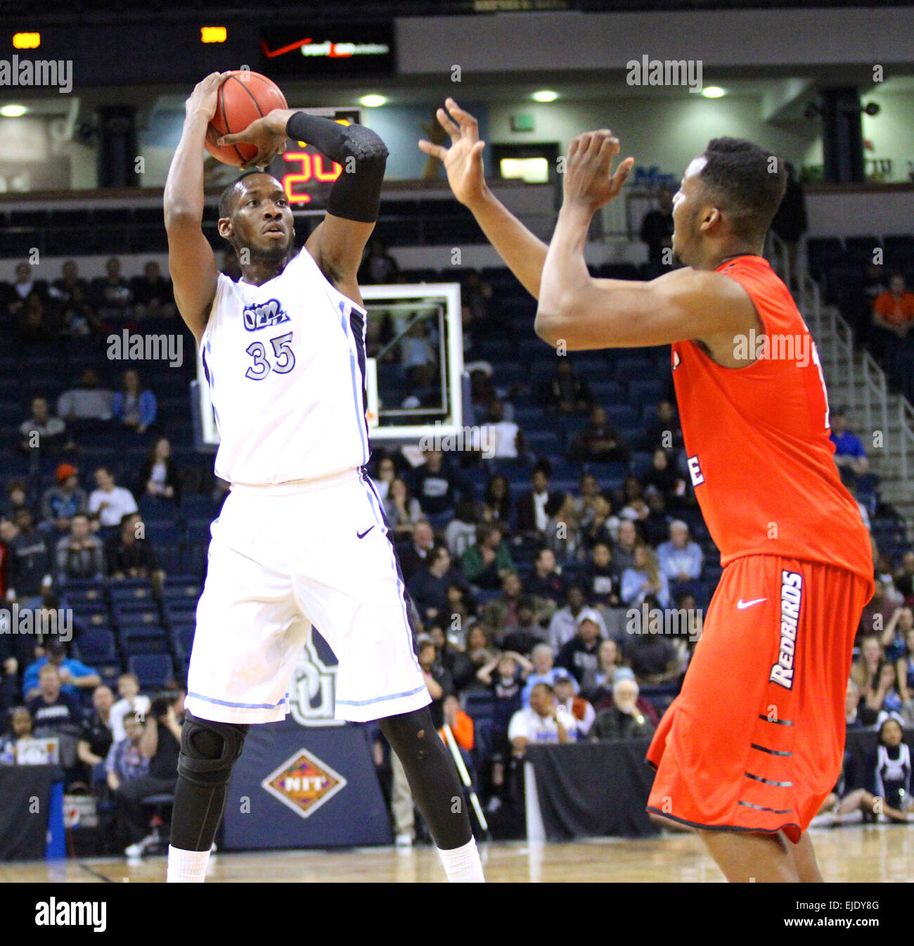 Norfolk, VA., USA. 23rd March, 2015. NCAA Basketball 2015: Old Dominion Monarchs center Jonathan Arledge (35) shoots - Stock Image
