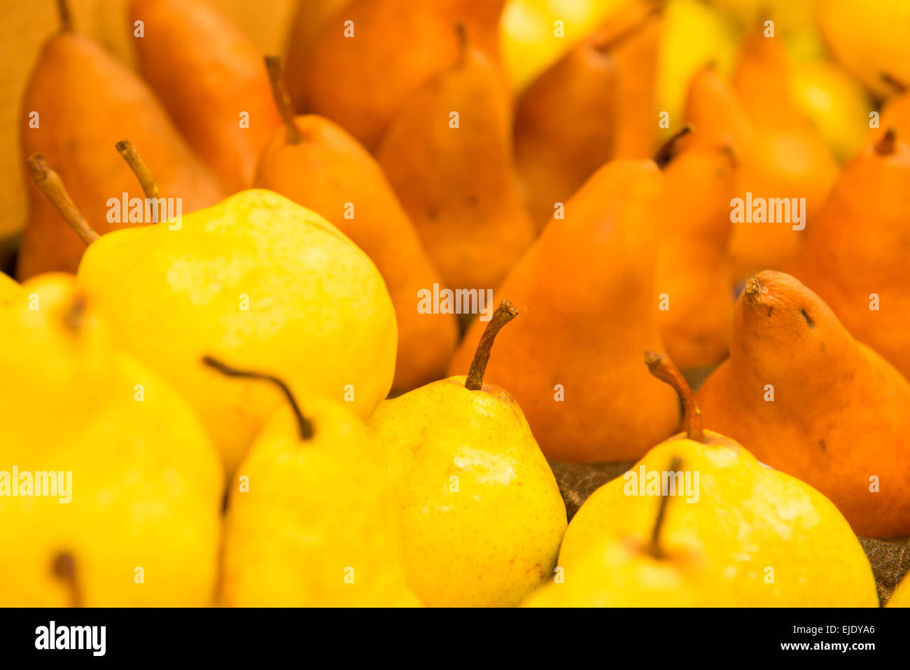 Tight shot of Fresh Pears. - Stock Image