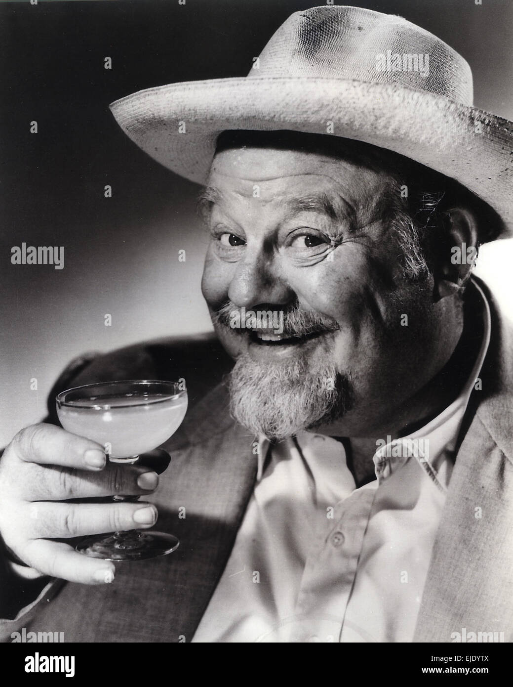 BURL IVES (1909-1995) Promotional photo of US actor and folk singer - Stock Image