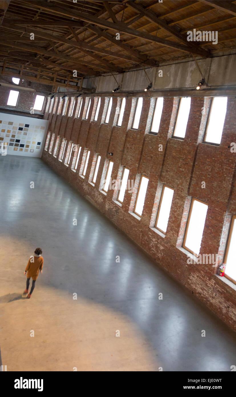 Pioneer works art center in Red Hook Brooklyn - Stock Image