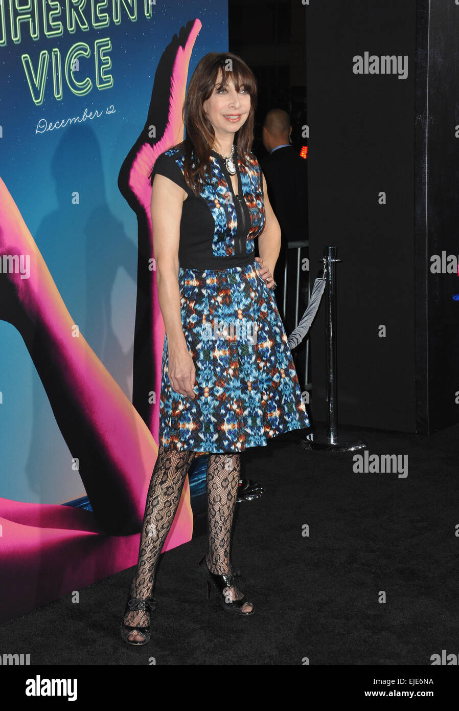 LOS ANGELES, CA - DECEMBER 10, 2014: Illeana Douglas at the Los Angeles premiere of 'Inherent Vice' at the - Stock Image