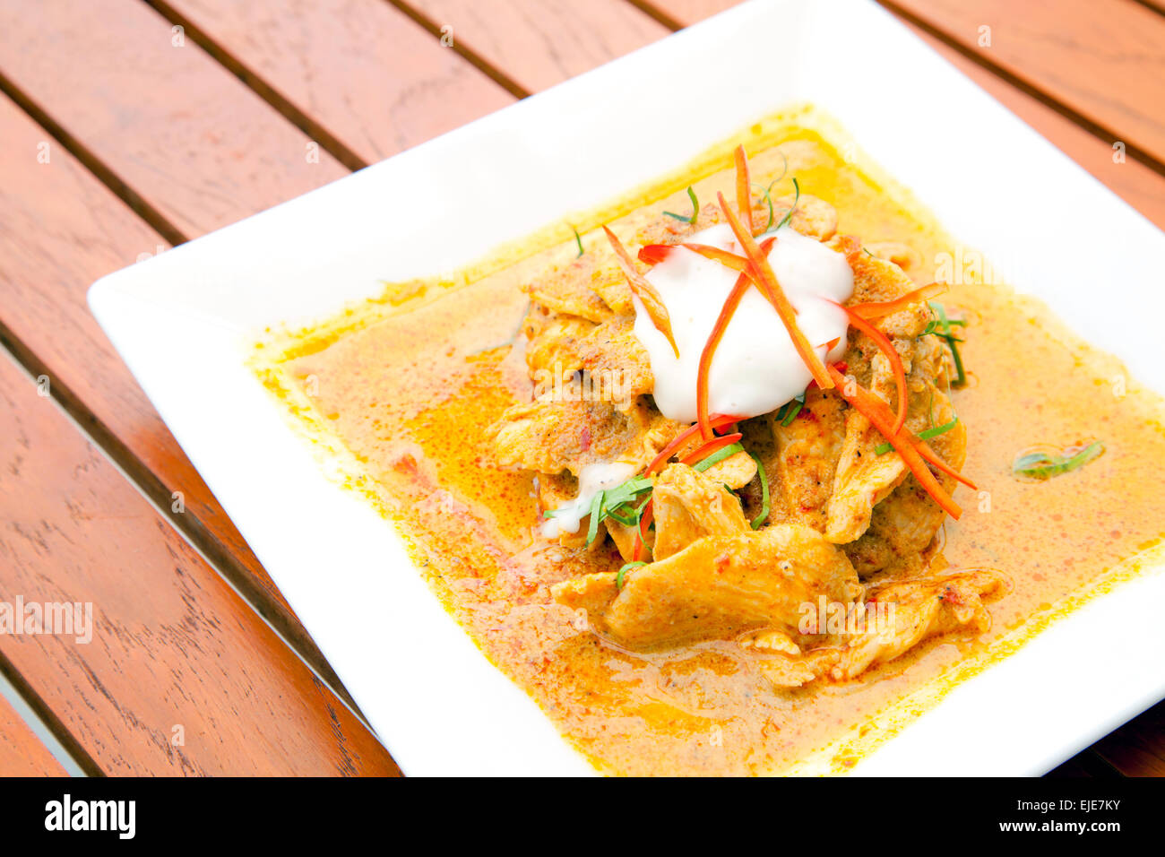 b212036c Gourmet Thai Chicken Red Curry Meal Stock Photo: 80218655 - Alamy