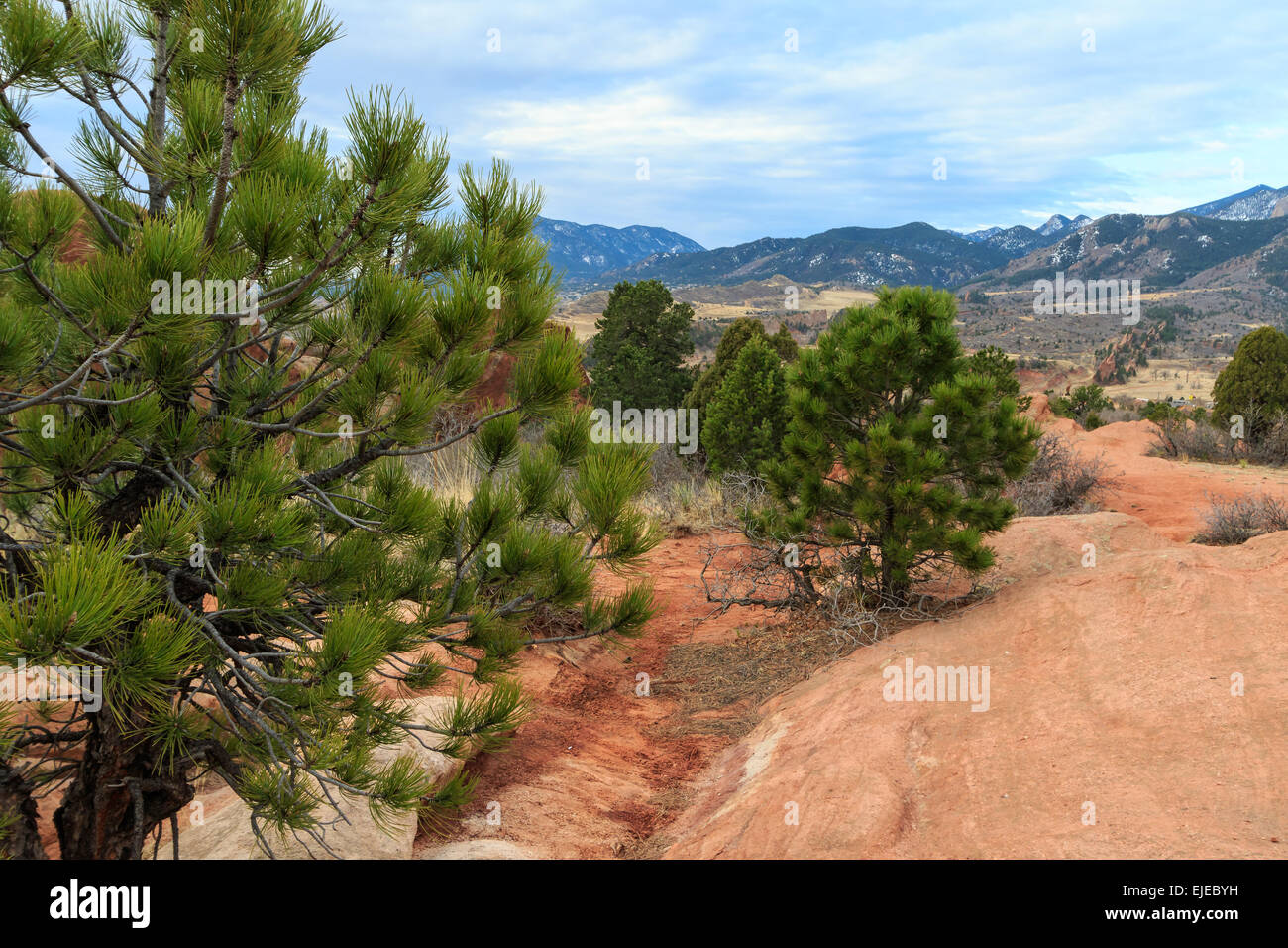 Garden of the Gods and the Front Range - Stock Image