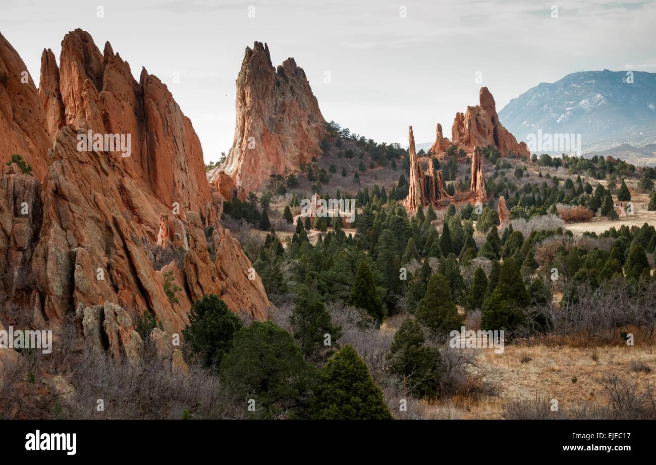 Cathedral Spires Garden Gods Colorado Stock Photos & Cathedral ...