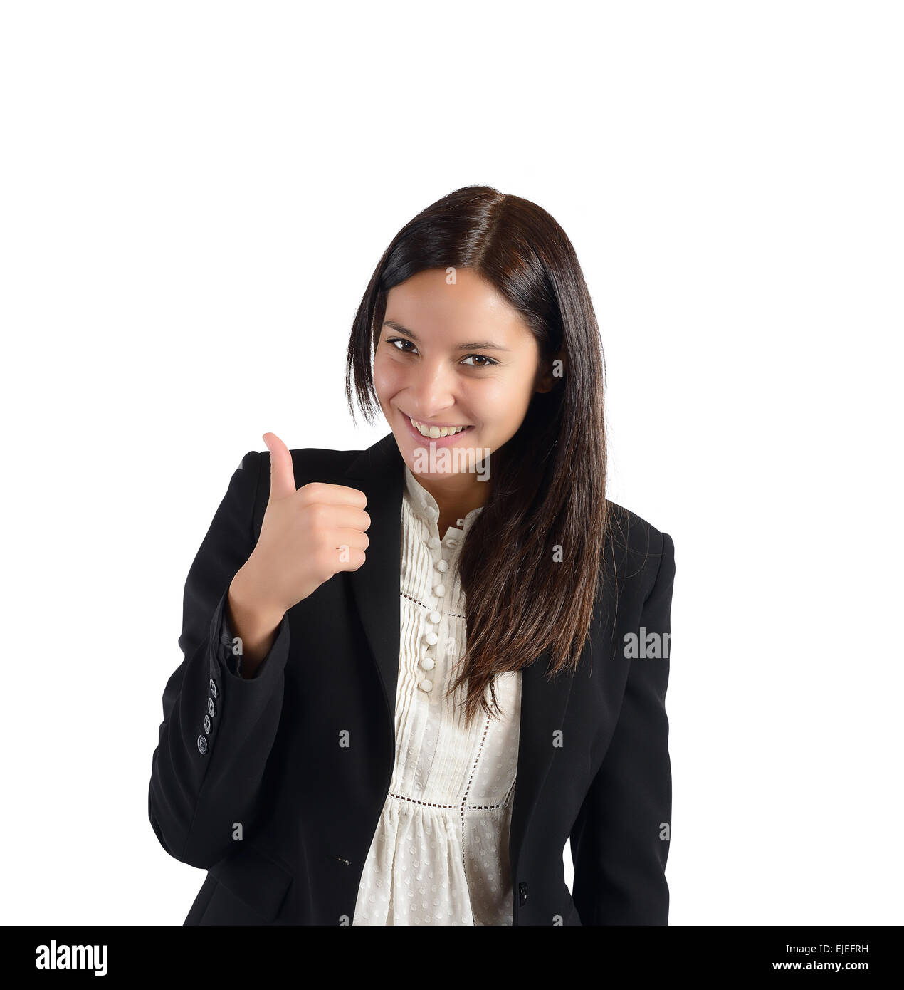 Positive and smiling businesswoman - Stock Image